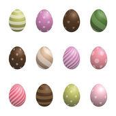 Easter eggs set 3 — Stock Vector