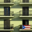 Puerto Rican Pride Flag — Stock Photo