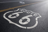 Historic Route 66 Right Turn — Stock Photo