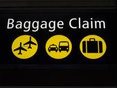 Flughafen gepäckausgabe zeichen — Stockfoto
