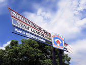 Little League Baseball - Al Houghton complex Sign — 图库照片