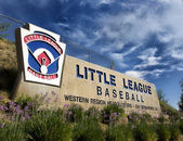 Little League Western regional Welcome sign — Stock Photo