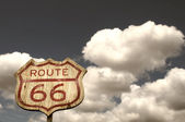 Iconic Route 66 sign — Stock Photo