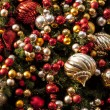 Christmas ornaments and Christmas Tree — Stock Photo