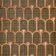 Copper Art Deco background — Stock Photo