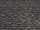 Worn wooden shingles — Stock Photo