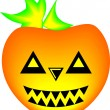 Angry pumpkin — Stock Vector