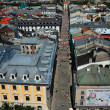 Stockfoto: Panoramic view from Mariacki church on FlorianskStreet, Krakow.
