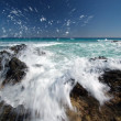 Foto de Stock  : Waves splashing on Canary Islands, Fuerteventura
