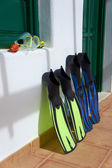 Snorkeling equipment. Canary Islands, Lanzarote. — Foto de Stock