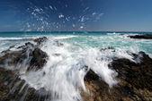 Waves splashing on the Canary Islands, Fuerteventura — Stock Photo