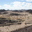 Panorama of Lobos Island from the Martino lighthouse, Canary Isl - Stock Photo