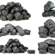Pile of coal isolated on white — Stock Photo