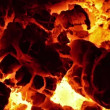 Burning coal. Close up of red hot coals glowed in the stove. Full HD, 1080p. — Stock Video