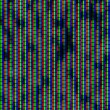 Close up of analog TV kinescope RGB noise — Stock Photo
