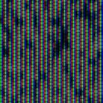 Close up of analog TV kinescope RGB noise — Stock Photo