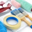 Painting tools on white background. — Стоковое фото #30289009