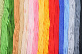Colorful embroidery threads. — Stock Photo