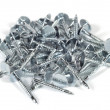 Stock Photo: Small pile of metal nails.