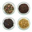Assortment of dried tea leaves. — Stock Photo