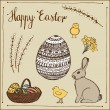 Ink hand-drawn vector Easter set. — Stock Photo #42204941