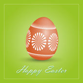 Happy Easter card with egg. — Vetorial Stock