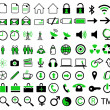 A collection of 72 icons — Stock Photo