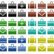 48 icons of bags — Stock Photo