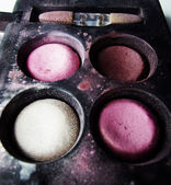 Old Colorful eye shadows — Stock Photo