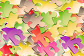 Pieces of the puzzle background — Stock Photo