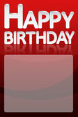 Happy birthday card official — Stock Photo