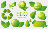 Vector set of eco icons — Stock Vector