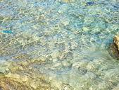 Сlear transparent water  of the coastal beach — Stock Photo