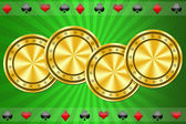 Green background for casino  — Stock Photo
