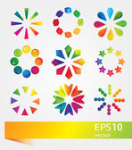 Set of vector colorful icons — Stock Vector
