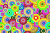 Bright abstract background of colored circles for design — Stock Photo