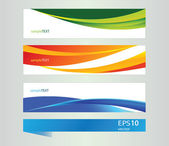 Abstract vector banners for design — Stock Vector