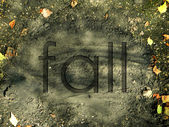Scorched ground with autumn leaves for background — Stock Photo