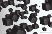 Vector picture with a lot of black squares — Stockvector