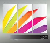 Vector rainbow geometric pattern banners — Stock Vector