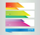 Vector rainbow geometric pattern banners — Stock Vector