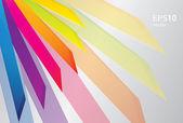Vector rainbow geometric pattern background for design — Stockvector