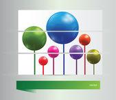 鲜艳的横幅球 — 图库矢量图片
