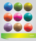 Bright  set with balls — Stock Vector
