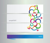 Banners with circles — Vector de stock
