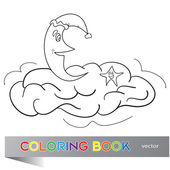 The coloring book for children — Stock Vector