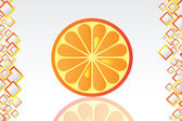Juicy orange background — Stock Vector