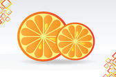 Juicy orange background — Stock Vector