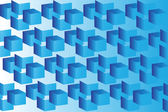 Abstract image of cubes background in blue  — Stock Vector
