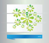 Abstract flowers background  — Stock Vector